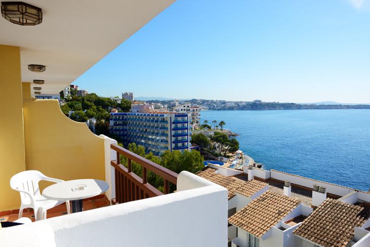 Meerblick vom Balkon im Hotel auf Mallorca